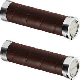 Brooks Slender Leather Grips, brown